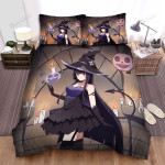Halloween, Witch, Charming Witch Bed Sheets Spread Duvet Cover Bedding Sets