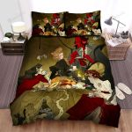 Halloween Vampire Family Party Bed Sheets Spread Duvet Cover Bedding Sets