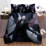 Halloween Vampire Count Dracula With His Wings Artwork Bed Sheets Spread Duvet Cover Bedding Sets