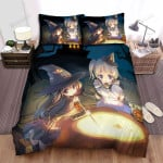 Halloween, Witch, Cooking Their Soup Artwork Bed Sheets Spread Duvet Cover Bedding Sets