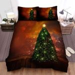 Light Christmas Tree In House Bed Sheets Spread Duvet Cover Bedding Sets