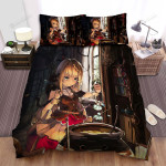 Halloween, Witch, Putting Flowers Into The Pot Artwork Bed Sheets Spread Duvet Cover Bedding Sets