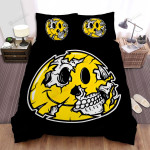 Halloween Skull & Smiley Face Bed Sheets Spread Duvet Cover Bedding Sets