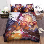 Halloween, Witch, She Has Beautiful Thights Artwork Bed Sheets Spread Duvet Cover Bedding Sets