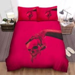Halloween Dripping Skull In Red Bed Sheets Spread Duvet Cover Bedding Sets