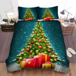 Beautiful Christmas Tree For The Holidays Bed Sheets Spread Duvet Cover Bedding Sets