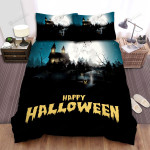 Halloween, Bat, Happy And Scary Halloween Bed Sheets Spread Duvet Cover Bedding Sets