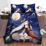 Halloween, Witch, On The Road To Her Home Bed Sheets Spread Duvet Cover Bedding Sets