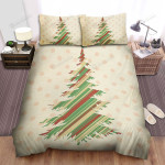 Many Dots And The Christmas Tree Art Bed Sheets Spread Duvet Cover Bedding Sets
