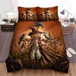 Scarecrow, Halloween, Sad Scarecrow Bed Sheets Spread Duvet Cover Bedding Sets