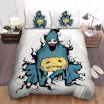 Halloween Scary Ghost Illustration Bed Sheets Spread Duvet Cover Bedding Sets