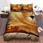 Spider, Halloween, Black Giant Spider Art Bed Sheets Spread Duvet Cover Bedding Sets