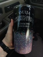 Ouija Board Purple Glitter Resin Alphabet And Numbers Stainless Steel Tumbler, Tumbler Cups For Coffee/Tea
