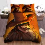 Scarecrow, Halloween, The Evil Smile Art Bed Sheets Spread Duvet Cover Bedding Sets