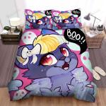 Halloween Cute Little Cat Artwork Bed Sheets Spread Duvet Cover Bedding Sets