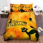 Spider, Halloween, Happy Halloween Eyes Art Bed Sheets Spread Duvet Cover Bedding Sets