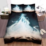 Halloween Ghost Lady On Water Artwork Bed Sheets Spread Duvet Cover Bedding Sets