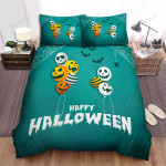 Spider, Halloween, Spider Web And Balloons Bed Sheets Spread Duvet Cover Bedding Sets