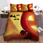 Spider, Halloween, Spider Web And Pumpkin Bed Sheets Spread Duvet Cover Bedding Sets