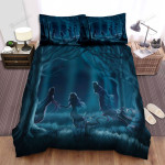 Halloween Scary Ghost Ladies In Dark Forest Bed Sheets Spread Duvet Cover Bedding Sets