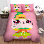 Halloween Pumpkin Meow Illustration Bed Sheets Spread Duvet Cover Bedding Sets