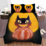 Halloween Black Cat Happy With Halloween Bed Sheets Spread Duvet Cover Bedding Sets