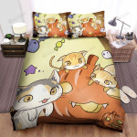 Halloween Cute Kittens Playing With Jack O Lantern Bed Sheets Spread Duvet Cover Bedding Sets