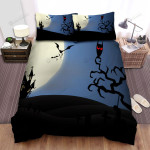 Halloween, Owl, Far Away The House Art Bed Sheets Spread Duvet Cover Bedding Sets