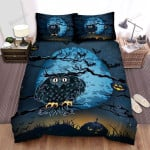 Halloween, Owl, Scarery Owl Art Bed Sheets Spread Duvet Cover Bedding Sets
