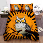 Halloween, Owl, Shine Brightly Owl Art Bed Sheets Spread Duvet Cover Bedding Sets