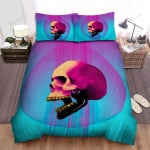 Halloween Skull With Gold Teeth Illustration Bed Sheets Spread Duvet Cover Bedding Sets