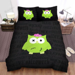 Halloween, Owl, Haunting Wicked Owl Art Bed Sheets Spread Duvet Cover Bedding Sets