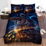 Halloween, Owl,  Wizard Owl Candles Bed Sheets Spread Duvet Cover Bedding Sets