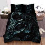 Halloween Black Metal Skull Bed Sheets Spread Duvet Cover Bedding Sets