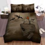 Halloween Skull Island 3d Digital Art Bed Sheets Spread Duvet Cover Bedding Sets