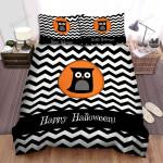 Halloween, Owl, Happy Black Owl Art Bed Sheets Spread Duvet Cover Bedding Sets