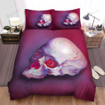 Halloween Skull With Sharp Tusks Bed Sheets Spread Duvet Cover Bedding Sets