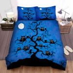 Halloween, Owl, Drinking And Reading Art Bed Sheets Spread Duvet Cover Bedding Sets