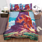 Halloween Skull Mountain Art Painting Bed Sheets Spread Duvet Cover Bedding Sets