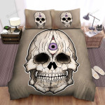 Halloween Skull With The Third Eye Bed Sheets Spread Duvet Cover Bedding Sets