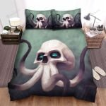 Halloween Skull With Octopus Limbs Bed Sheets Spread Duvet Cover Bedding Sets