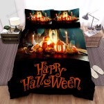 Halloween Desk With Skull Candles And Pumpkins Bed Sheets Spread Duvet Cover Bedding Sets