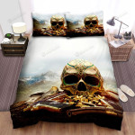 Halloween Calavera Skull With Guns And Bullets Bed Sheets Spread Duvet Cover Bedding Sets