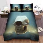 Halloween One-Eyed Skull Illustration Bed Sheets Spread Duvet Cover Bedding Sets