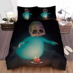 Halloween Baby Skull Ghost Bed Sheets Spread Duvet Cover Bedding Sets