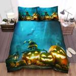 Halloween Jack-O-Lantern The Trio Bed Sheets Spread Duvet Cover Bedding Sets
