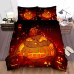 Halloween Jack-O-Lantern With Big Teeth Bed Sheets Spread Duvet Cover Bedding Sets