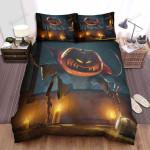 Halloween Jack-O-Lantern Climbing Through The Window Bed Sheets Spread Duvet Cover Bedding Sets
