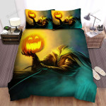 Halloween Jack-O-Lantern Headless Artwork Bed Sheets Spread Duvet Cover Bedding Sets