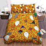 Halloween Adorable Jack-O-Lantern Pattern Bed Sheets Spread Duvet Cover Bedding Sets